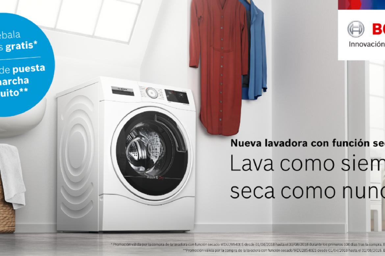Promoción Bosch – Prueba gratis la nueva lavadora función secado.